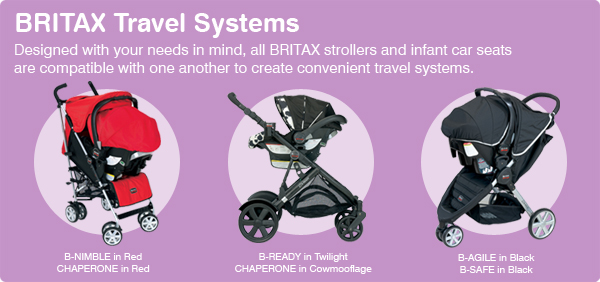 Baby Out and About Safely in a Travel System