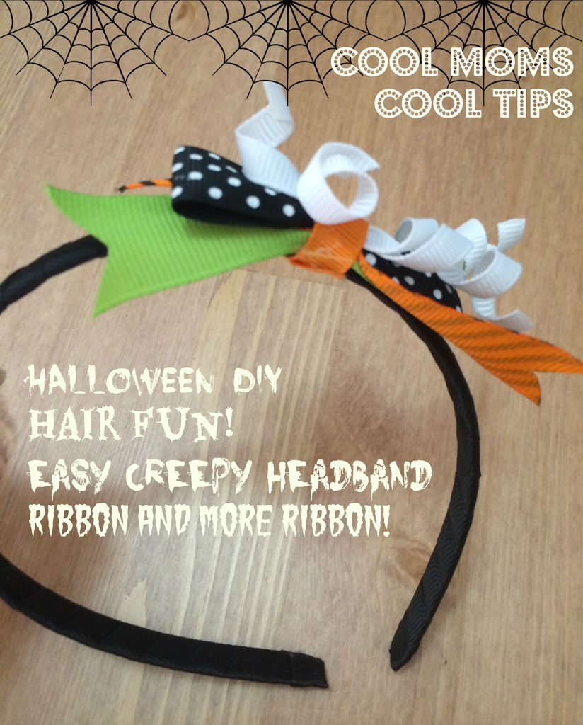 cool moms cool tips DIY Halloween Fall hair fun spooky headband