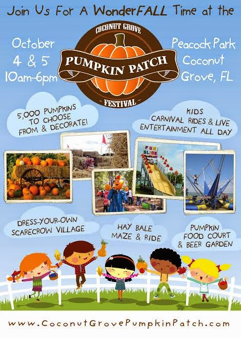 Great Family Fall Fun at the Coconut Grove Pumpkin Patch Festival!  Enter Giveaway to Win Family Ticket Pack!