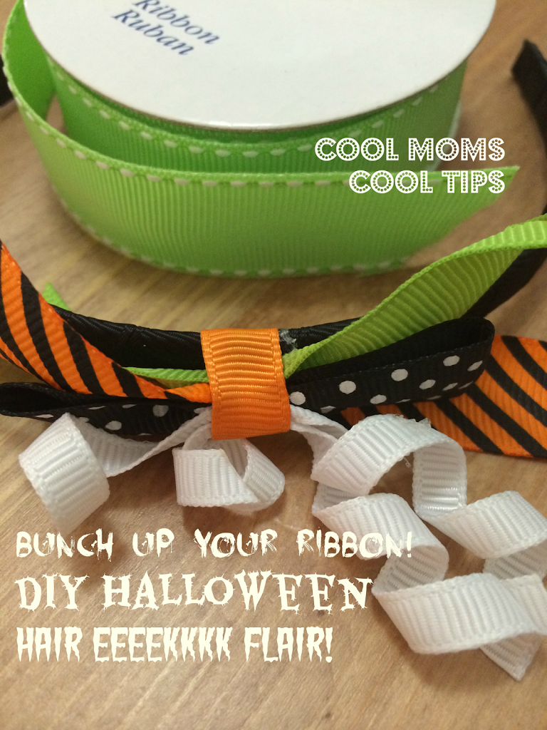 cool moms cool tips diy halloween head band bunch up ribbon