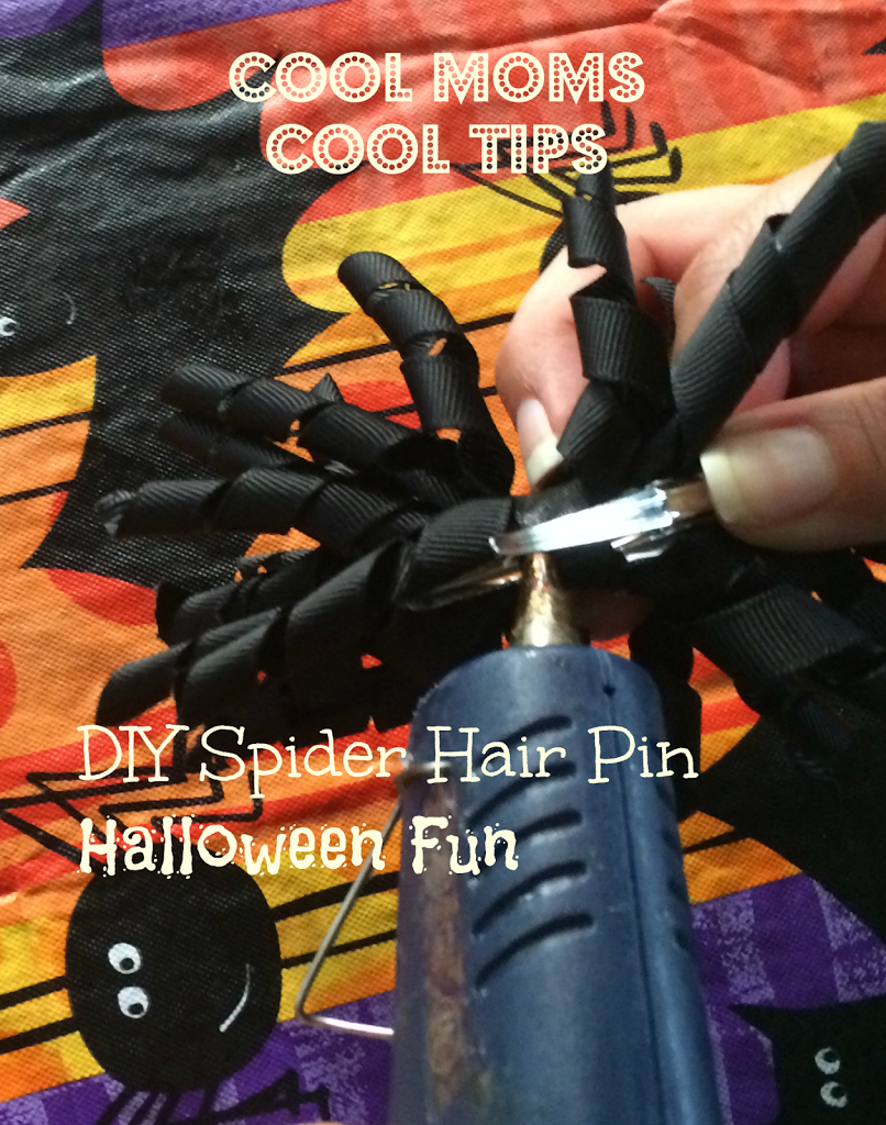 DIY Spider Hair Pin Halloween Fun putting it together
