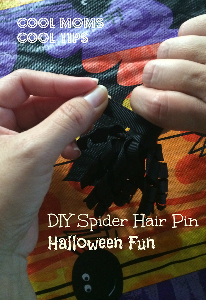 cool moms cool tips halloween spider hair pin materials