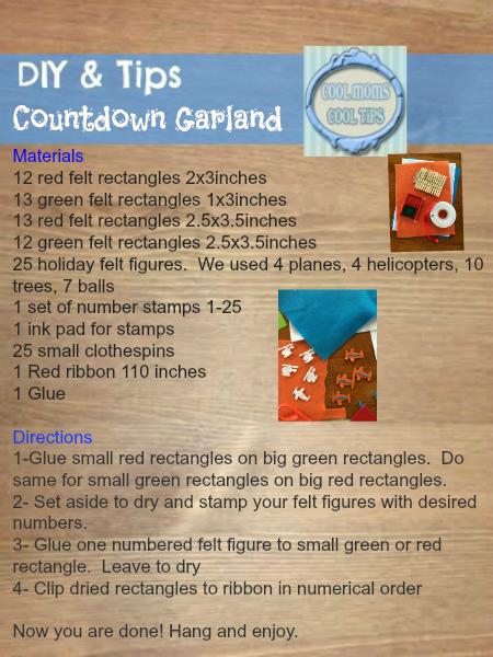 cool moms cool tips DIY countdown garland Disney Planes Inspired instructions #ad #planestotherescue #collectivebias