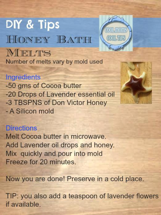 cool moms cool tips #HoneyForHolidays #ad DIY Honey Bath Melts