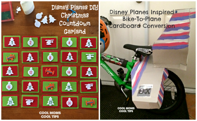 DIY Disney Planes Inspired: Countdown Garland and Bike-To-Plane Conversion