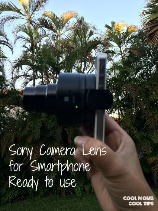 cool moms cool tips #ad sony camera lens for smartphones mounted and ready to use DSC QX10