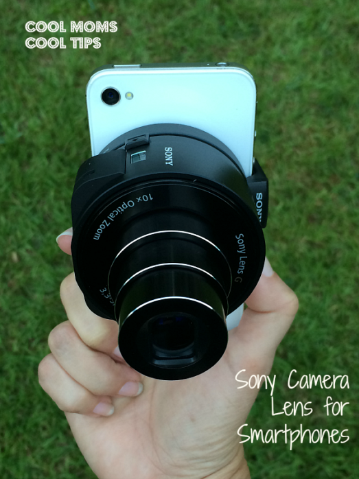 cool moms cool tips #ad sony camra lens for smartphone mounted