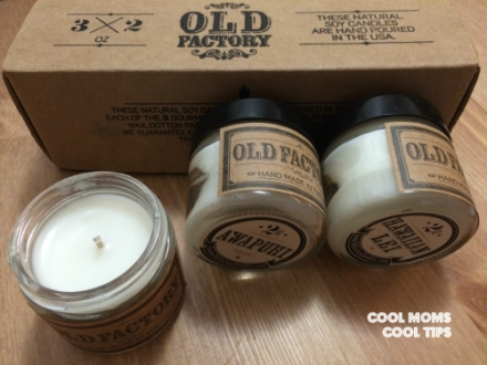 cool moms cool tips #sponsored old factory candles vacation set