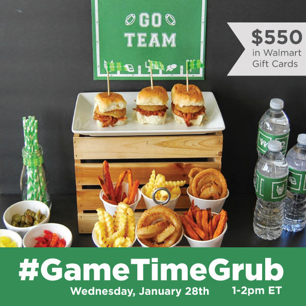 RSVP to the #GameTimeGrub Twitter Party on 1/28 at 1PM EST #ad