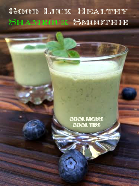 Good Luck Healthy Shamrock Smoothie for Saint Patrick's Day