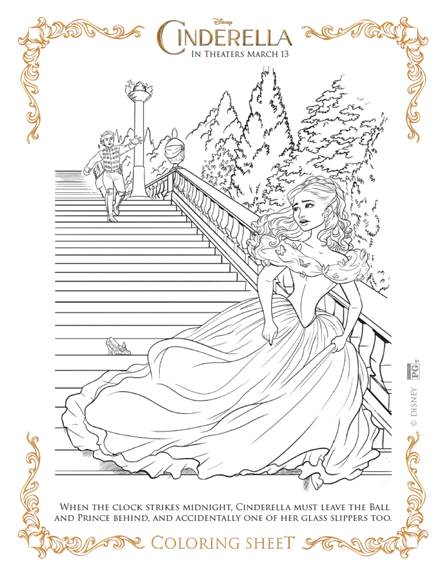 Adorable Cinderella Coloring Sheets #Cinderella
