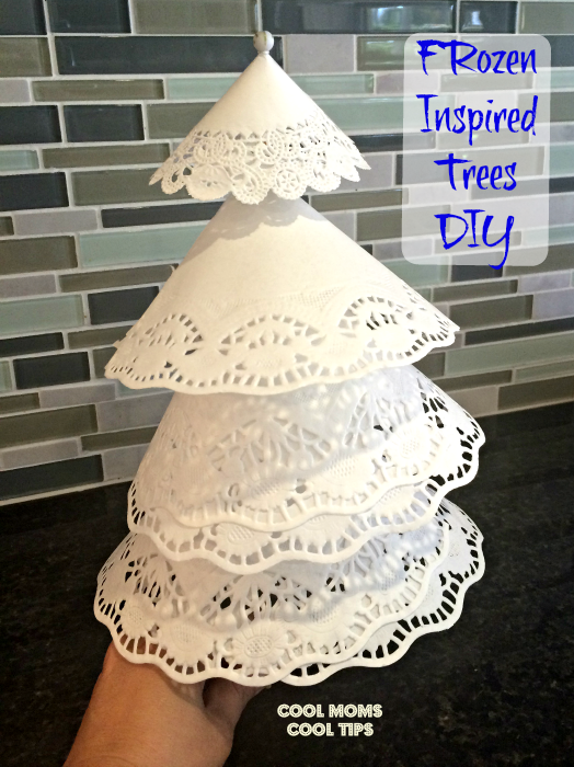 Disney Frozen Inspired Paper Trees and The Magic of Disney Short Film In Your Home