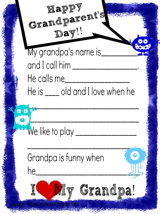 Grandparents Day Celebration and Printable