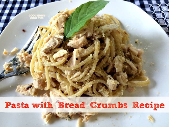 Pasta with Bread Crumbs Recipe plus Giveaway