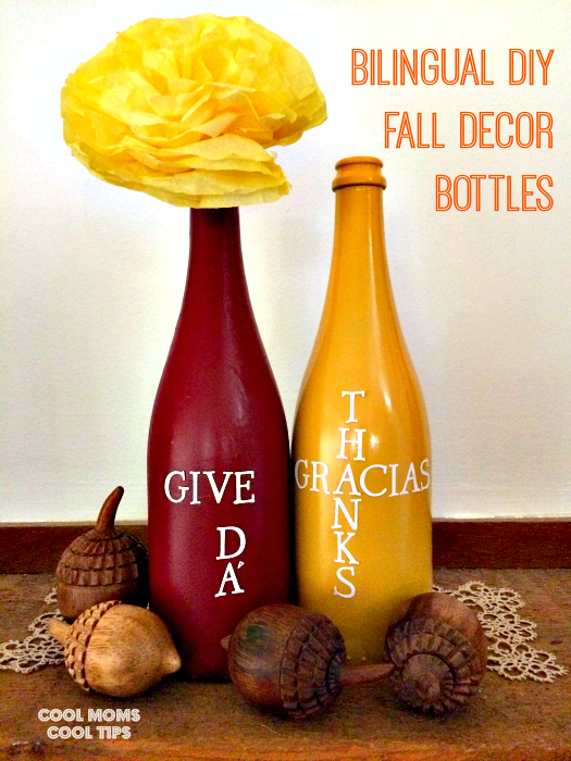 Bilingual-DIY-Fall-Decor-Bottles-cool-moms-cool-tips #ad #holidaysconfamilia