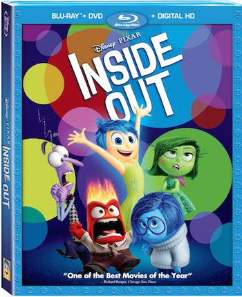 Disney-Pixar Inside Out Movie Now Available in Blu-ray