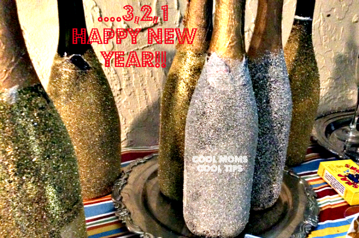 happy new year DIY glitter bottles cool moms cool tips