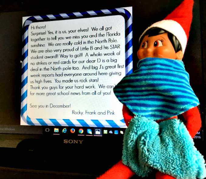 Tips To Beat Winter Break Blues with elf letters- cool-moms-cool-tips