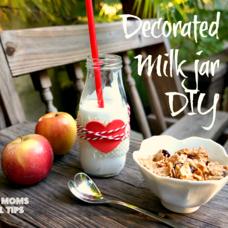 decorated milk jar diy