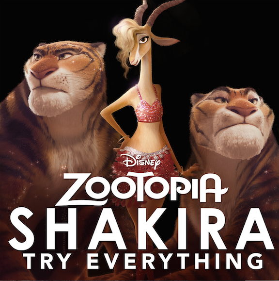 Shakira and #Zootopia Music Available on March 4th!