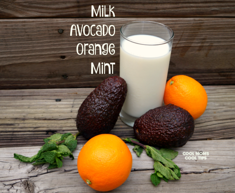 avocado orange smoothie ingredients cool moms cool tips #ad