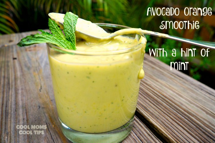 avocado orange smoothie with mint cool moms cool tips #ad spoon it