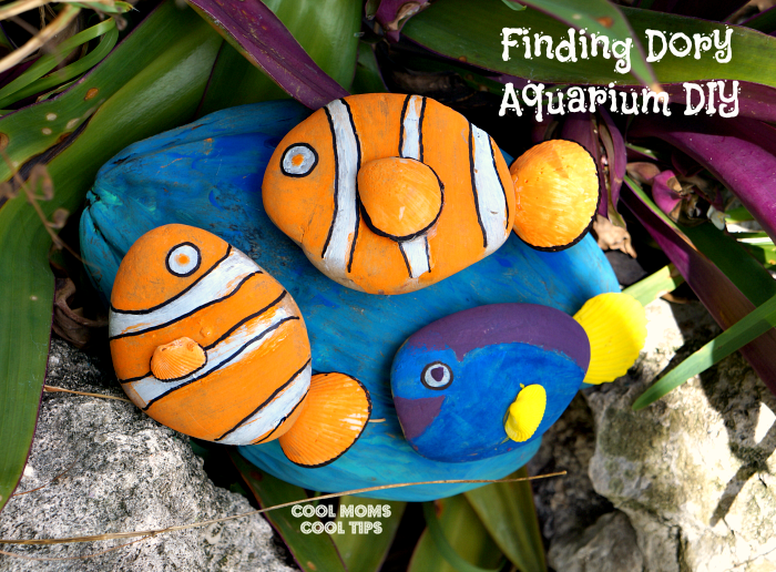 Acuarium DIY Disney craft #diy #FindingDoryEvent #FindingDory #HaveYouSeenHer #SpeakLikeAWhaleDay cool moms cool tips
