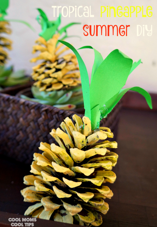 adorable tropical pineapple summer diy cool moms cool tips #Bringthetropicshomw #ad