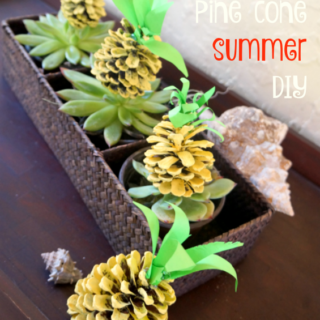 easy tropical pineapple summer diy cool moms cool tips #BringTheTropicsHome #ad
