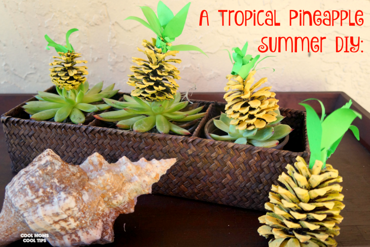 tropical pineapple summer diy cool moms cool tips #ad