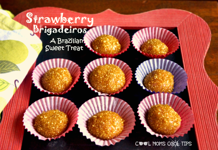 Strawberry brigadeiros recipe cool moms cool tips #backtoschoolready #ad