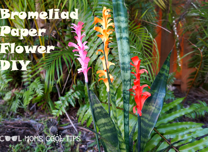 Bromeliad Paper Flowers DIY to Celebrate Elena Of Avalor #ElenaOfAvalor