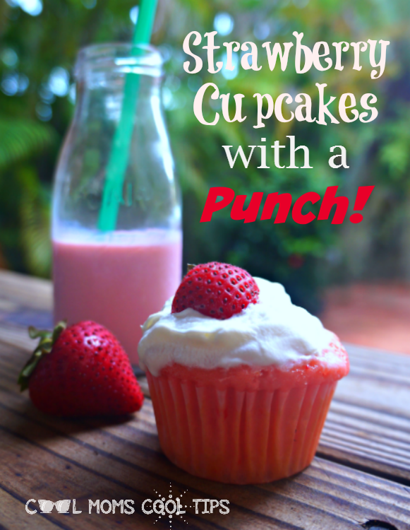 strawberry cupcakes with a punch cool moms cool tips #ad