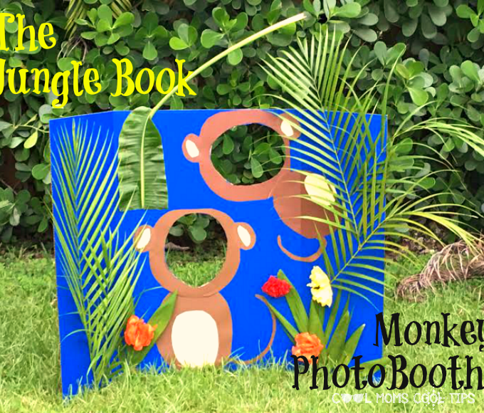 Getting in The Jungle Book Monkey Photo Booth Mood! #JungleBook