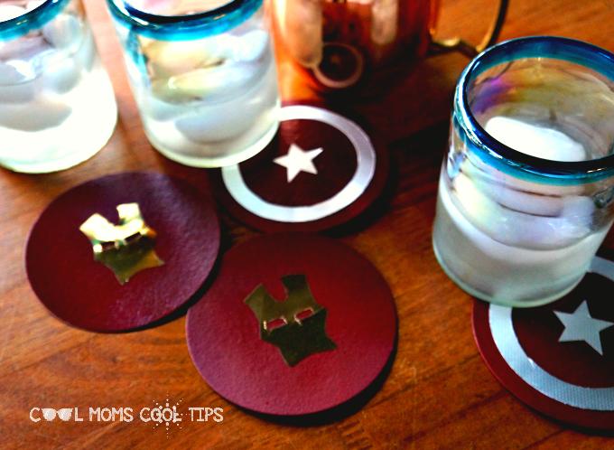 Cool Captain America: Civil War Coasters DIY #CaptainAmericaCivilWar