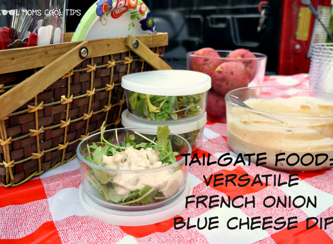 Versatile Tailgating French Onion Blue Cheese Dip