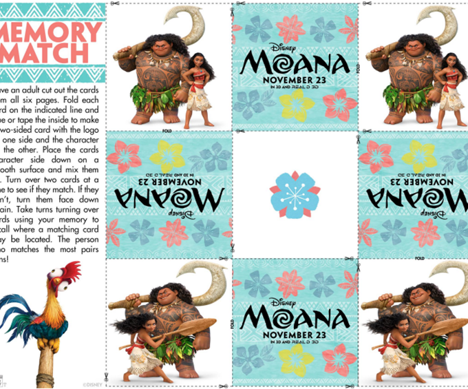 Getting Ready for Disney's Moana with Fun Activity Sheets #Moana
