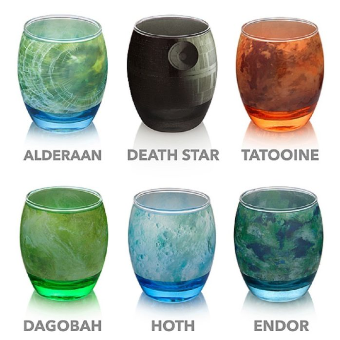 star wars planet glasses