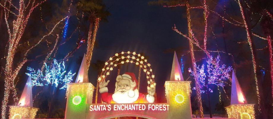 The Magic of the Holidays at Santa's Enchanted Forest #Giveaway