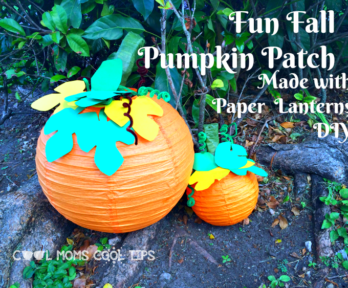 Pumpkin Patch Made out of Paper Lanterns DIY