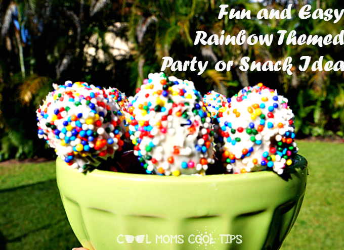 Rainbow Covered Grapes Party and Snack Idea