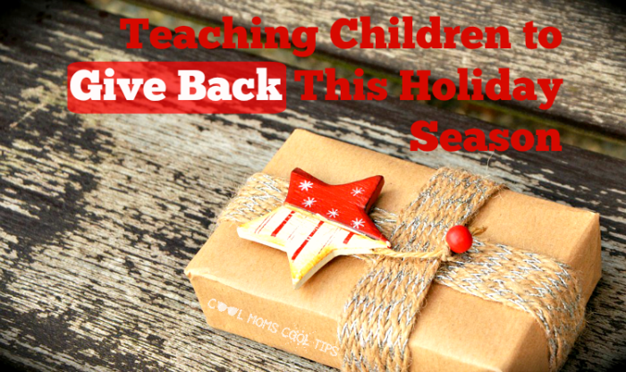 teaching children to give back this holiday season cool moms cool tips #ad