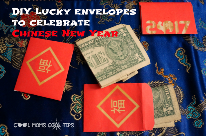 DIY chinese new year lucky envelopes