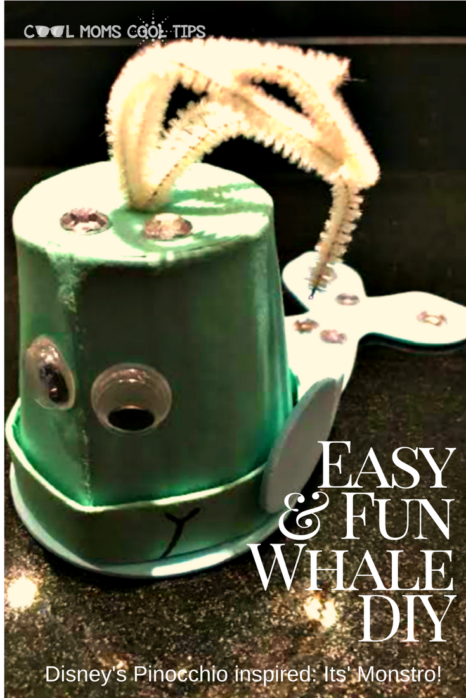 Want to make an easy whale craft? We have a Disney's Pinocchio inspired whale for you! You can call it Monstro, but it is way friendlier and perfect for baby shower celebrations!