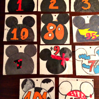 easy Disney Inspired Race Bib DIY