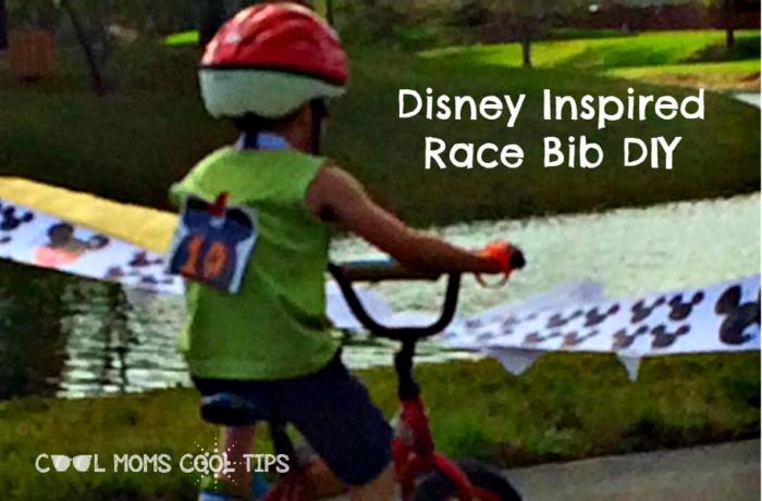 Disney Inspired Race Bib DIY cool moms cool tips