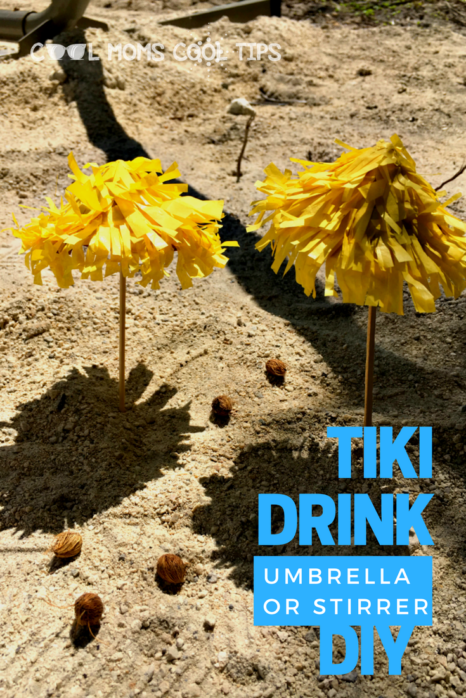 Looking for an island vibe for your drink? Make this easy and fun tiki drink umbrella or stirred diy!