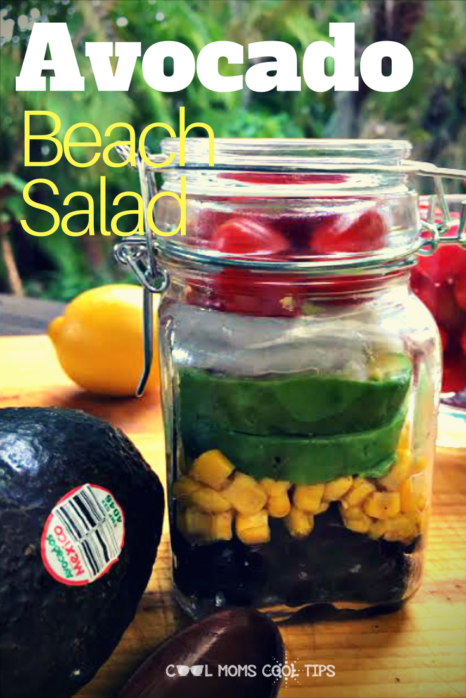 Love avocados? make this easy and yummy fresh avocado beach salad!