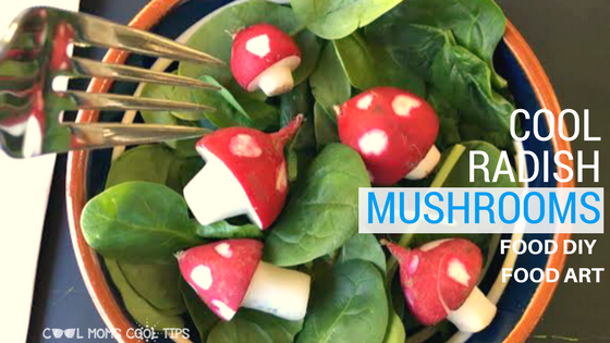 Food DIY Art: Cool Radish Mushrooms!