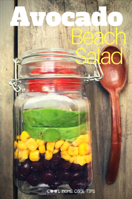 Need a fabulous on the go salad? Try our avocado beach salad. It is easy , yummy and very portable!